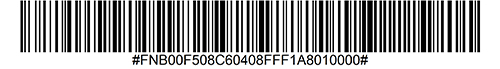 Enable OCR-A Barcode