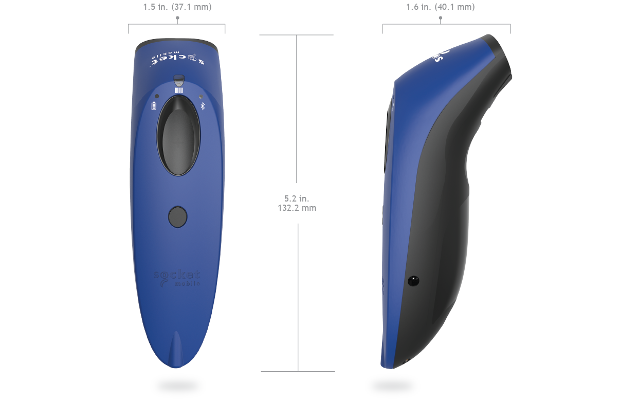 SocketScan 700 Series dimensions